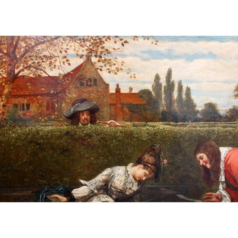 Gilt George Adolphus Storey Oil on Canvas