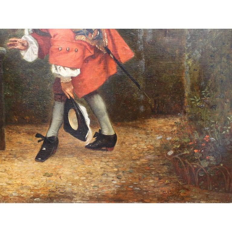 19th Century George Adolphus Storey Oil on Canvas