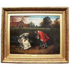 """George Adolphus Storey Oil on Canvas """"Love in a Maze"""""""
