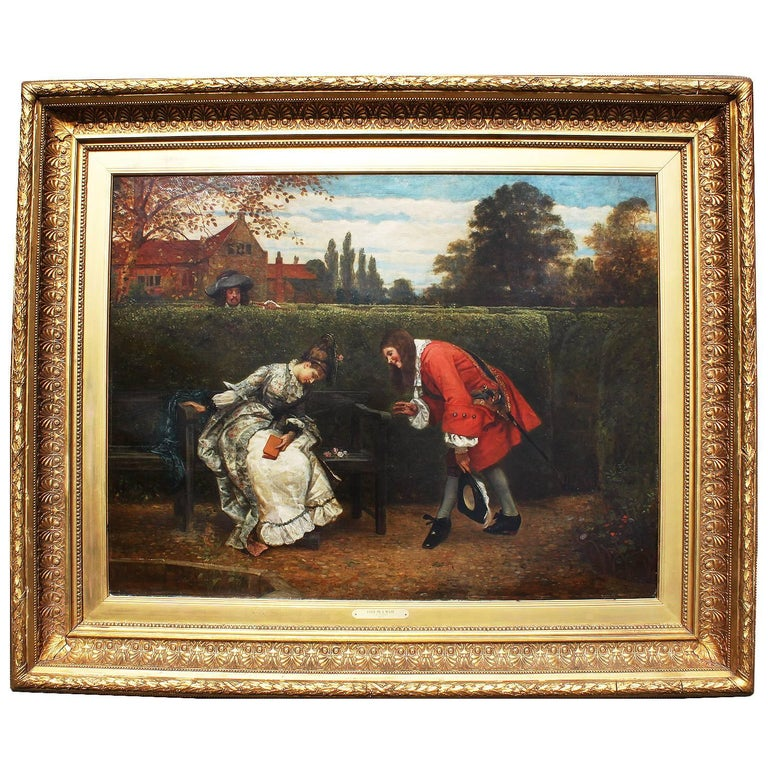 """George Adolphus Storey Oil on Canvas """"Love in a Maze"""" For Sale"""
