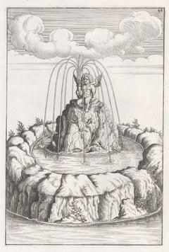 Baroque 17th century German fountain design by George Andreas Boeckler