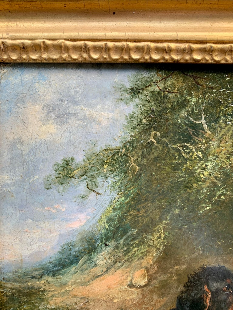 Antique Victorian English 19th C portrait of English Spaniel dogs in a landscape For Sale 6