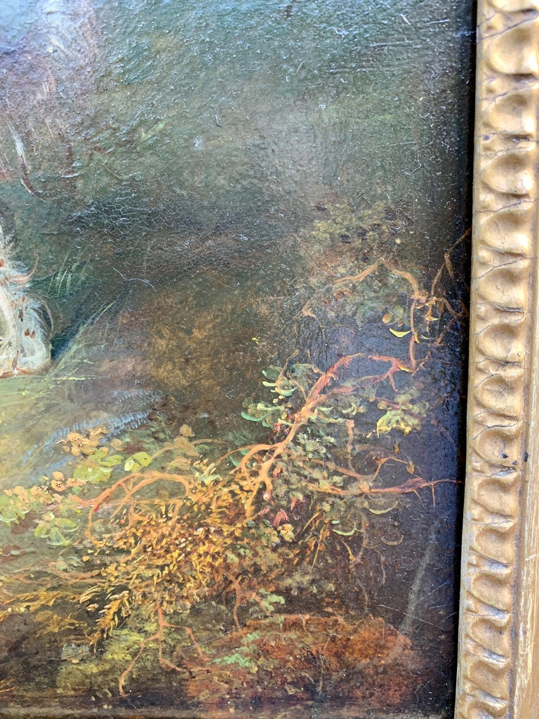 Antique Victorian English 19th C portrait of English Spaniel dogs in a landscape For Sale 3