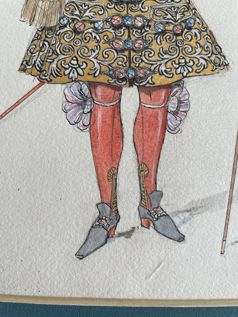George Barbier watercolor illustration,
