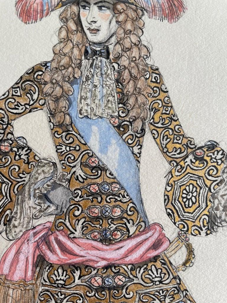European George Barbier Ink and Watercolor,