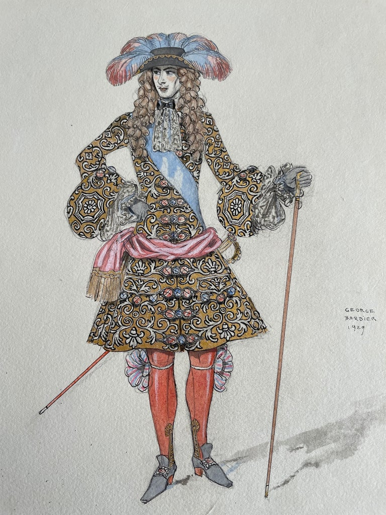 George Barbier Ink and Watercolor,