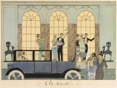 Au Revoir - Original Pochoir by G. Barbier - 1920