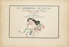 Frontispiece for Le Bonheur du Jour - Original Pochoir by G. Barbier - 1929