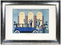 George Barbier, Au Revoir, fashion lithograph, 1924