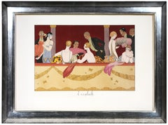 George Barbier, Eventails, fashion lithograph, 1924