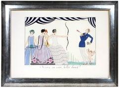 George Barbier, Visez au Coeur, belles Dames, fashion lithograph, 1924