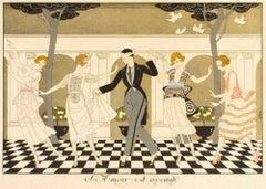 L'Amour Est Aveugle - Original Pochoir by G. Barbier - 1920