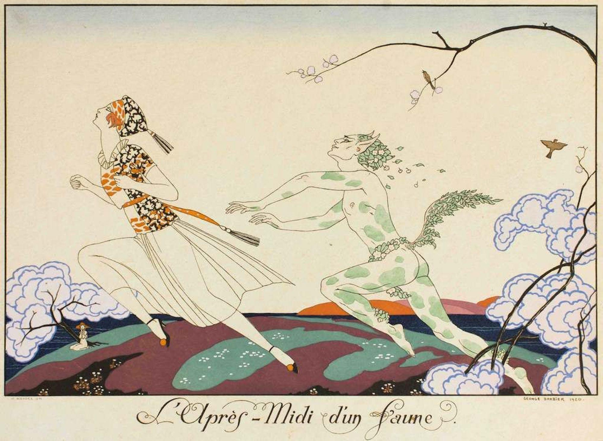 L'apres-midi d'un Faune - Original Pochoir by G. Barbier - 1920