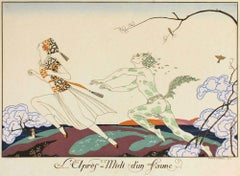 L'apres-midi d'un Faune - Original Pochoir by G. Barbier - 1920