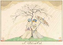 L'arc-en-ciel - Original Pochoir by G. Barbier - 1920