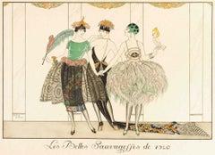 Les Belles Sauvagesses de 1920 - Original Pochoir by G. Barbier - 1920