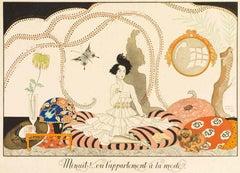 Minuit!.. ou l'appartement à la mode - Original Pochoir by G. Barbier - 1920