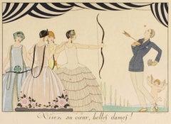 Visez au coeur, belles dames - Original Pochoir by G. Barbier - 1920