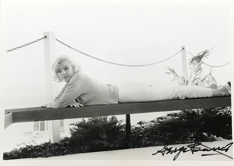 This piece is a triptych of three original photographs from the original negatives, shot by George Barris in 1962, and printed at a later date. These photographs of Marilyn Monroe are part of a series entitled