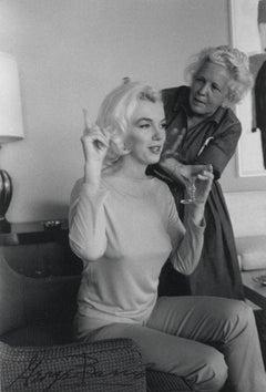 Marilyn Monroe Candid with Hairdresser Vintage Original Photograph