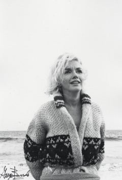 Marilyn Monroe in Knit Sweater on the Beach Vintage Original Photograph