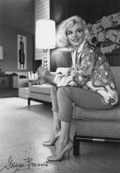 Marilyn Monroe in Pucci Jacket on Couch Vintage Original Photograph