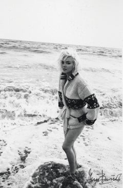 Marilyn Monroe Posed in the Surf Vintage Original Photograph