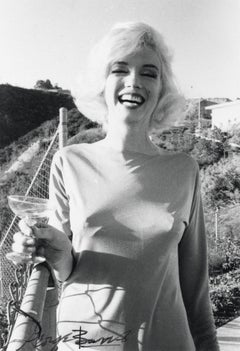 Marilyn Monroe Smiling with Cocktail Vintage Original Photograph