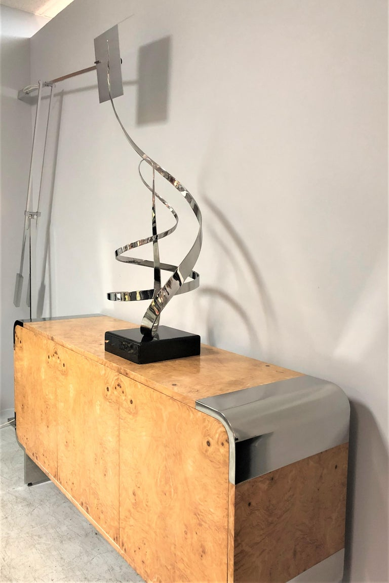 George Beckman Kinetic Stainless Steel Sculpture In Excellent Condition For Sale In Miami, FL