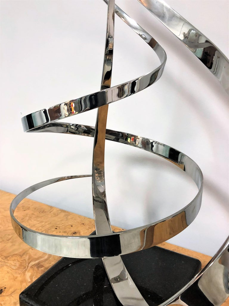 George Beckman Kinetic Stainless Steel Sculpture For Sale 2