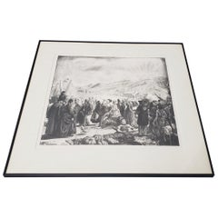 "George Bellows ""Irish Fair"" Original Signed Lithograph, circa 1923"