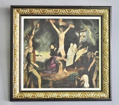 """The Crucifixion"" Oil on Board After George Bellows"