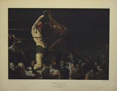 """""""Both Members of This Club"""" New York Graphic Society Print, After George Bellows"""