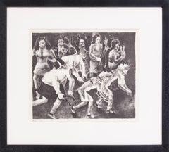 Buffalo Dance (Native American Pueblo Dancers, New Mexico, Black & White, 1937)