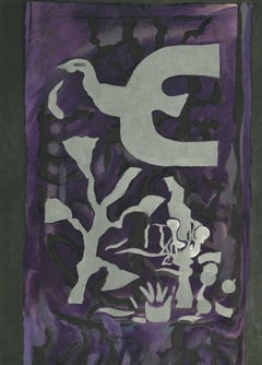 Composition from Derriere Le Miroir - Lithograph after George Braque - 1964