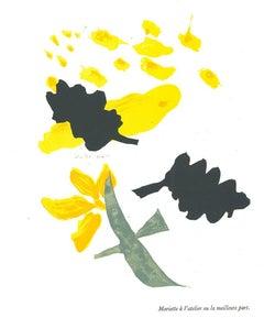 Composition - Original Lithograph after George Braque - 1982