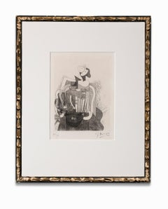 """""""La Femme Assise"""", Cubist Etching, Signed and Numbered in Pencil by the Artist"""