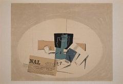 Le Paquet de Tabac - Original Lithograph by George Braque - 1963