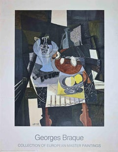 Still Life with Mandolin - Offset Poster After George Braque - 1986