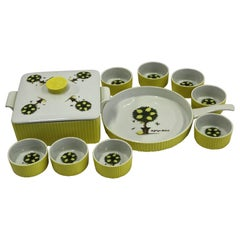 George Briard Mid-Century Modern Oven to Table Lemon Tree Serving Dishes, 1960s