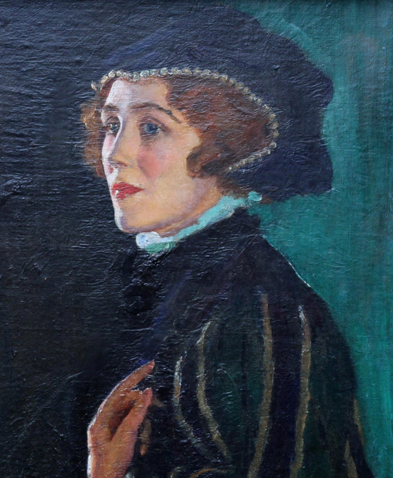 Painted by George Carr Drinkwater, this vibrant oil on canvas depicts the actress of stage and screen Cecily Byrne as Mary Stuart. Painted circa 1930 it is a stunning evocative portrait of an actress who was famous throughout the 1930's. A fine