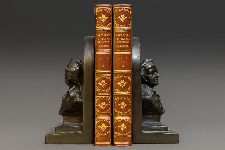 """2 volumes.   With numerous illustrations. Bound in 3/4 Wine Calf, marbled boards, top edges gilt, Raised bands, gilt panels.   Published: London: By The Author 1848  First Edition.   Measures: H 8 1/2"""", D 5 1/4"""", W 1""""."""