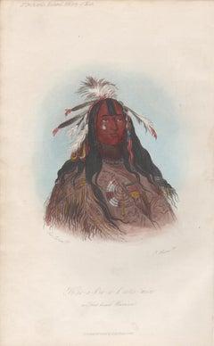 H'co-a-h'co-a-cotes-min - A Flat Head Warrior Native American portrait engraving