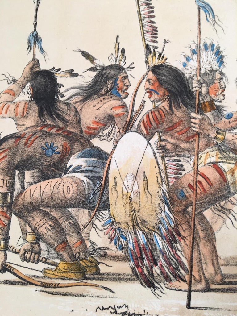 The War Dance - Print by George Catlin