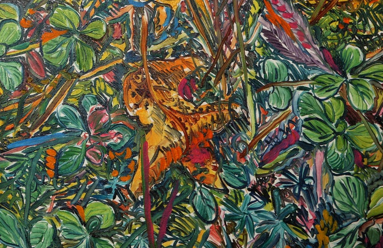 Composed Flower Garden, Large Painting by George Chemeche For Sale 2