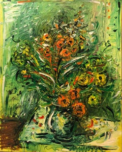 Expressionist French Israeli Floral Painting Chelsea Hotel Modernist