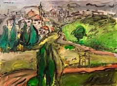 Expressionist French Israeli  Old City Jerusalem Modernist Landscape