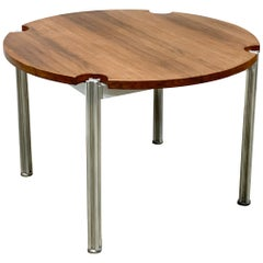 George Ciancimino for Risom Aluminum and Walnut Dining Table