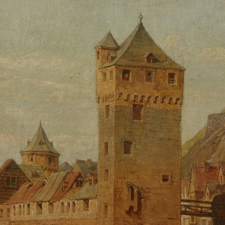 Landscape by George C. Stanfield St. Goarshausen 19th Century - Other Art Style Painting by George Clarkson Stanfield