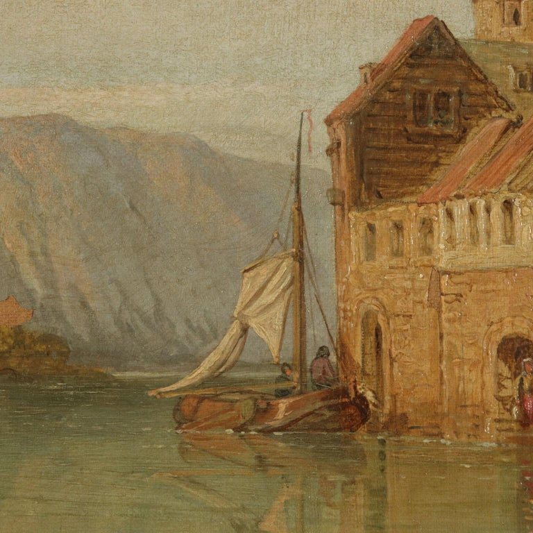 Landscape by George C. Stanfield St. Goarshausen 19th Century 1